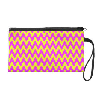 Pink Sunshine Waves Wristlet Purse