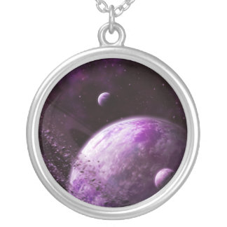 Pink Super Earth Xianthen-18 Silver Plated Necklace