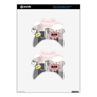 Pink Super Hero City Xbox 360 Controller Skin