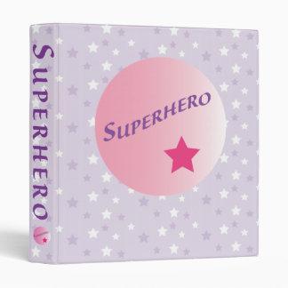 Pink Superhero 3 Ring Binder