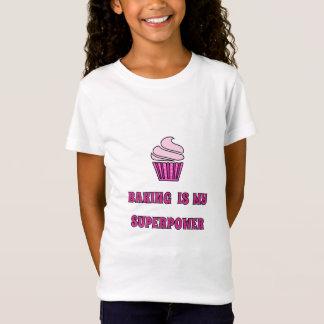 Pink superpower baking cupcake T-Shirt