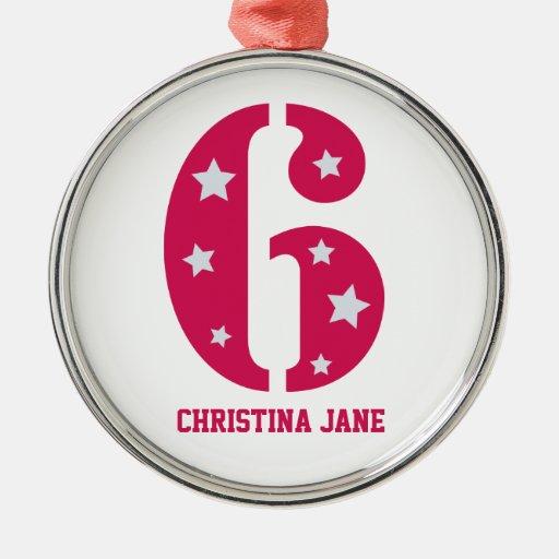 Pink Superstar 6 Ornament (Premium Round)