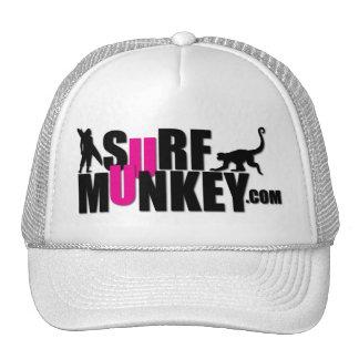 Pink - Surf Munkey Billboard design Trucker Hat