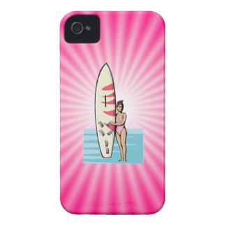 Pink Surfer Girl Blackberry Case