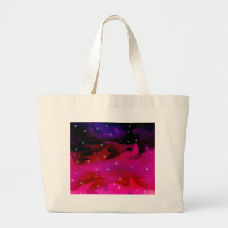 Pink Swallows Sky Large Tote Bag