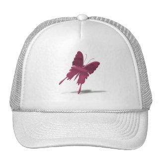 Pink Swallowtail Butterfly Baseball Hat