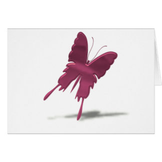 Pink Swallowtail Butterfly Card