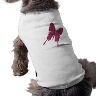 Pink Swallowtail Butterfly Dog Shirt