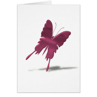 Pink Swallowtail Butterfly Greeting Card