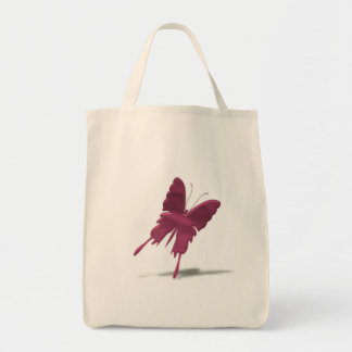 Pink Swallowtail Butterfly Grocery Bag