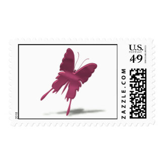 Pink Swallowtail Butterfly Postal Stamp