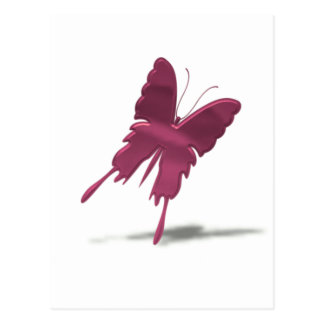 Pink Swallowtail Butterfly Postcard
