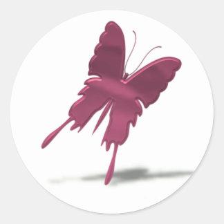 Pink Swallowtail Butterfly Sticker