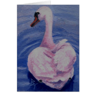 Pink Swan aceo Blank Card