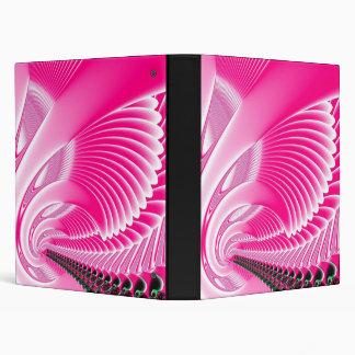 Pink Swan Wings Fractal Binder
