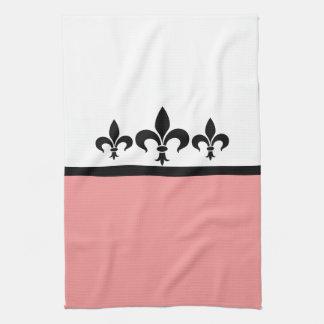 Pink Swanky Fleur De Lis Towel