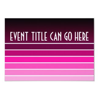 pink swatch 3.5x5 paper invitation card