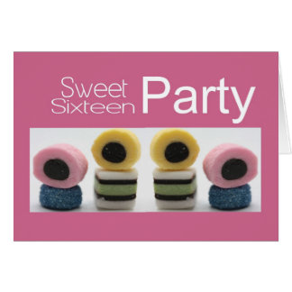 pink sweet 16 invitation