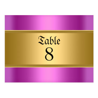 Pink Sweet 16 table Numbers Postcard