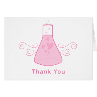 Pink Sweet Chemistry Thank You Card