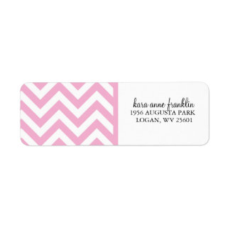 Pink Sweet Chevron Personalized Label