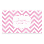 Pink Sweet Chevron Personalized Mommy Contact / Business Card