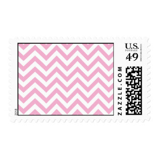 Pink Sweet Chevron Personalized Postage Stamp
