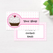 Pink sweet cupcake business Cards