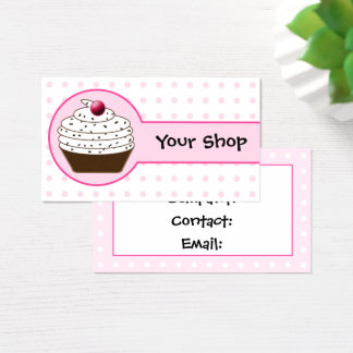 Pink sweet cupcake business Cards