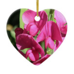 Pink Sweet Pea Ornament