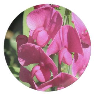 Pink Sweet Pea  Plate