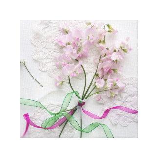Pink Sweet Peas Canvas Print