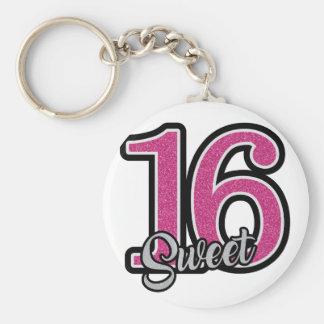 Pink Sweet Sixteen Keychain