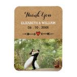 Pink Sweethearts & Arrows Rustic Wedding Thank You Rectangular Photo Magnet