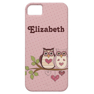 Pink Sweethoots Personalized iPhone 5 Case