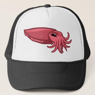 Pink Swimming Cuttlefish Trucker Hat