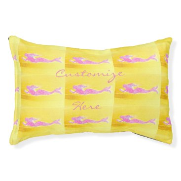 Beach Themed pink swimming mermaids pet bed
