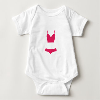 Pink swimsuit baby bodysuit