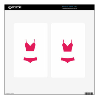 Pink swimsuit decals for kindle fire
