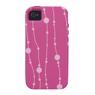Pink Swingin' Beads iPhone 4/4S Covers
