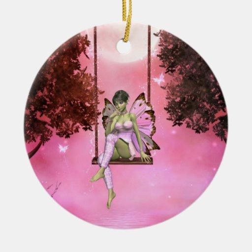 Pink Swinging Enchantments Ornament