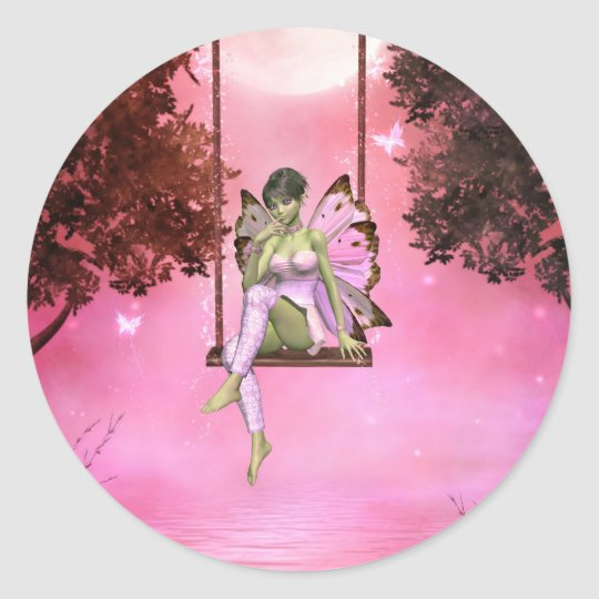 Pink Swinging Enchantments Sticker