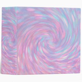 Pink Swirl 3 Ring Binder