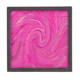 Pink Swirl Abstract Design Pattern Premium Gift Box