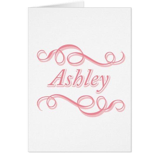 Pink Swirl Ashley Card