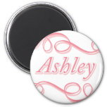 Pink Swirl Ashley Magnets