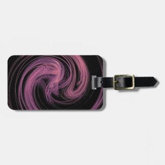 pink swirl bag tag
