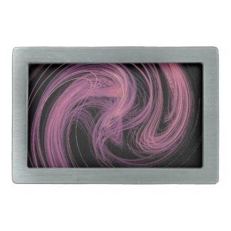 pink swirl rectangular belt buckles