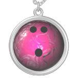 Pink Swirl Bowling Ball Jewelry