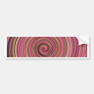 Pink Swirl Bumper Sticker